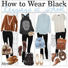 Outfits with black leggings | fashion look from September 2013 featuring Acne Studios tops, H&M ...