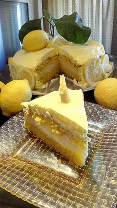 Greek Sweets, Greek Desserts, Lemon Recipes, Greek Recipes, Cookbook Recipes, Cooking Recipes, Mumbai Street Food, Lime Cake, Different Cakes