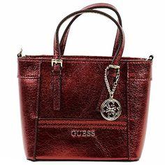 GUESS Women's Delaney Metallic Mini Tote Handbag