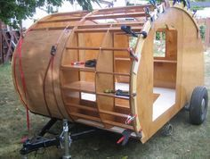 teardrop camper designs | Final test fit of the first panels...