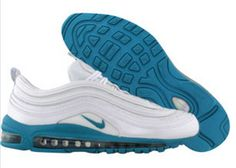 huge discount 998d7 5b79e New Nike Air Max 97 for Sale White Blue Mens Shoes £54.18 FREE SHIPPING By  DHL