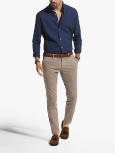 mens Jeans – High Fashion For Men Chinos Men Outfit, Khaki Pants Outfit, Blazer Outfits Men, Outfits Casual, Stylish Mens Outfits, Mode Outfits, Men Shorts, Blue Shirt Outfit Men, Casual Shoes