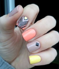 Neon/pastel tribal