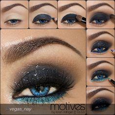 Beatiful smokey eyes makeup