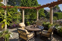 This outdoor area was designed by MacPherson Construction and Design of Sammamish, WA