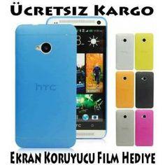 HTC One M7 Kılıf-0.2mm Silikon Koruyucu Kılıf 13,90 TL Ücretsiz Kargo Ekran Koruyucu Film Hediye Htc One M7, Electronics, Film, Phone, Movie, Movies, Telephone, Film Stock, Film Movie