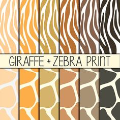 Animal Print  Zebra & Giraffe  Animal Pattern by babushkadesign