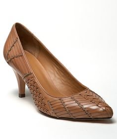 Woven-Leather Pump: Footwear | Free Shipping at L.L.Bean