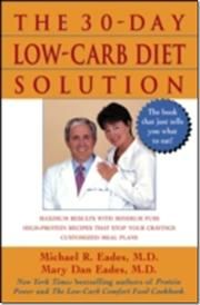 30-Day Low-Carb Diet Solution af Mary Dan Eades, ISBN 9780471448327