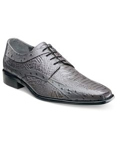 Stacy Adams Fiorenza Ostrich Print Lace-Up Shoes - All Men's Shoes - Men - Macy's