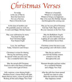 137 Best Christmas Verses Images Merry Christmas Thoughts