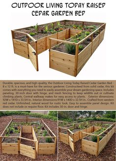 Top Ten Planters To Help Get Your Garden Going This Spring Dream Garden, Home And Garden, Spring Garden, Raised Garden Bed Kits, Cedar Garden, Backyard Farming, Backyard Projects, Garden Structures, Garden Landscaping