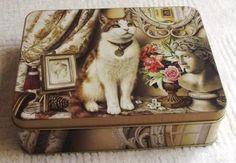 Cat Tins | Kitchen Storage & Organisation - Cat rectangular Tin - 17 x 13 x 5cm ...