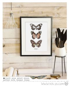 Lepidoptera VOL 1- Beautifully textured cotton canvas art print. Order as an 8x10 11x14 or 16x20 size.