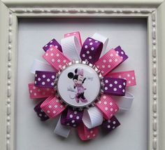 Minnie Mouse Loopy Bottle Cap Hair Bow  Pink by HairBowsbyMarsha, $6.00