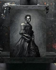 Master study 76 - Maxim Vakhovskiy | Oil on panel         #painting #oilpainting #tonalism #impressionism #pictorialism #monoart #monochromeart #kunst #instaartexplorer #artwork #art #1900s #blackwoman  #blackwomen #framedart #wallart #gothic #gothgoth #artcollecting #collectart #artcollectors #contemporaryartwork #noir_vision #monochromatic #bw_divine #noir #pictorialart #tonal #victorian