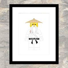 Afdrukken van groene Ninja in elementaire Kimono. Geschikt voor een kinderkamer of voor volwassen Lego liefhebbers. Andere Ninja ook beschikbaar - Bekijk de laatste foto te zien van andere keuzes. Het zelf afdrukken, of naar de drukker voor een canvas of specialiteit papier afwerking.