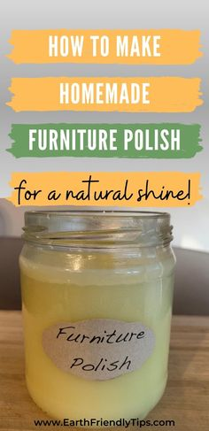 If you're interested in giving your wood furniture a natural shine without using any dangerous and toxic chemicals, you'll love this homemade furniture polish. This DIY furniture polish uses beeswax for a safe and natural shine that also smells amazing. Discover how to make homemade furniture polish that will help you have a naturally clean home! #ecofriendly #natural #cleaning #homemade #DIY
