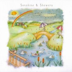 Sunshine and Showers Card - £2.95 - FREE UK Delivery.  Make Your Purchase :  http://www.pippins.co.uk/brands/berni-parker-designs-ladies-men-who-love-life-birthday-cards/sunshine-and-showers-card.html