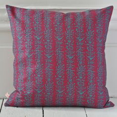 Butterfly Cushion - Purple {Available reversible or as a single print}