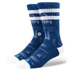 Stance Socks Navigator Men's Crew Socks at The Paper Store John John Florence, Stance Socks, Red Vans, Blue Socks, Sock Shop, Cool Socks, Rolling Stones, Athletic Wear, Outfits