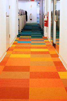 Love this FLOR tiling