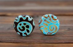 Tab Duo  2 Focal Beads  K O Lampwork от koregon на Etsy, $24.00