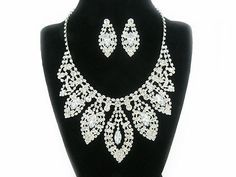 Shoply.com -Marquies Rhinestone Necklace Set. Only $22.00