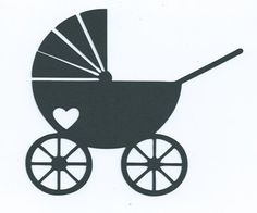 Baby stroller or pram silhouette by hilemanhouse on Etsy, $1.99