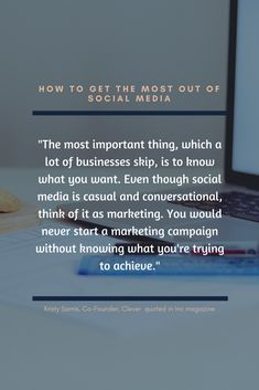 Social Media Marketing tips from Inc. Magazine. Are you thinking of every post as marketing? And, do you have a plan?  #strategy #digitalagency #marketingagency #womenentrepreneurs #branding #socialmediamarketing Know What You Want, How To Get, How To Plan, Productivity, Social Media Marketing, Campaign, Branding, Magazine, Business