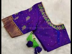 Most Beautiful Blouse Designing with Normal Stitching Needle- Same Like Aari/Maggam work Cutwork Blouse Designs, Kids Blouse Designs, Hand Work Blouse Design, Simple Blouse Designs, Embroidery Neck Designs, Stylish Blouse Design, Blouse Neck Designs, Hand Designs, Hand Embroidery