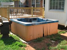 Do we remove hot tubs? Why yes we do.... GSD Junk Hauling 256.735.9494  gsdjunkhauling.com