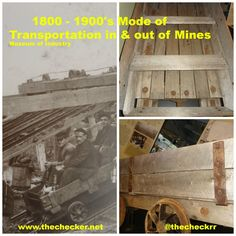 Mode of Transportation In & Out of the Mines 1800 - Oil And Gas, Transportation, Industrial, Museum, Industrial Music, Museums