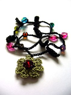* Doppelreihiges Häkelarmbändchen * von crochet.jewels auf DaWanda.com
