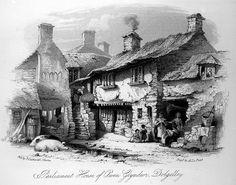 Parliament House of Owain Glyndwr in Dolgellau (Cwrt Plas yn Dre) c.1860
