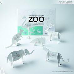 A' Design Award and Competition - Images of Good Morning Original Calendar 2011-Zoo by Katsumi Tamura