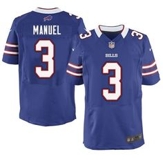 Men's Nike Buffalo Bills #3 E. J. Manuel Elite Royal Blue Team Color NFL Jersey   www.nflbillsjerseysstore.com