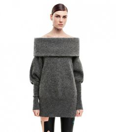 Comfortable and chic--this sweater will save any what-to-wear crisis. // Daze Mohair Grey Melange Sweater by Acne Studios