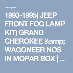 tail gate wiring harness oem jeep grand wagoneer 84 91 wire details about 1993 1995 jeep front fog lamp kit grand cherokee wagoneer nos in mopar box