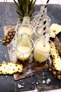 Saveurs Végétales: ► Milky juice {ananas & lait de coco}