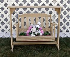 Amish Made Fully Functional Rustic Swing Planter