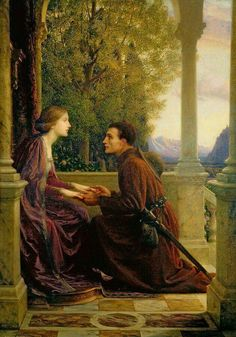 The End of the Quest by Sir Frank Dicksee pre Raphaelite painter Frank Dicksee, Elfen Fantasy, Fantasy Art, Pre Raphaelite Paintings, English Artists, Victorian Art, Classical Art, Art And Illustration, Beautiful Paintings