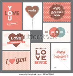Happy valentines day and weeding cards by newcorner, via ShutterStock