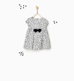 BOW AND STARS DRESS-NEW IN-BABY GIRL   3 months-3 years-KIDS   ZARA United States