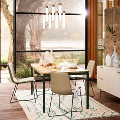 Box Frame Chevron Dining Table  Room Furniture Ideas And Apartments Endearing Picture Frames For Dining Room Design Ideas