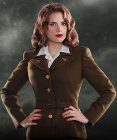 Hayley Atwell played Agent Peggy Carter in the 2011 superhero film Captain America: The First Avenger. She will reprise the role in the film's 2014 sequel, Captain America: The Winter Soldier. Hayley Elizabeth Atwell, Hayley Atwell Peggy Carter, Haley Atwell, Film Captain America, Captain America Peggy Carter, Iron Man 3, Avengers Poster, Marvel Avengers, Marvel Heroes