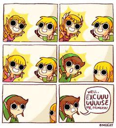 Legend of Zelda. Zelda, Link