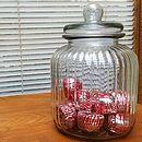 Ridged Glass Biscuit Storage Jar