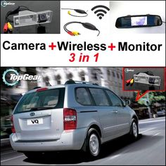74.44$  Buy here - http://ali8kc.worldwells.pw/go.php?t=32466990532 - 3 in1 Special Rear View Camera + Wireless Receiver + Mirror Monitor Easy DIY Back Up Parking System For KIA VQ Camival Sedona