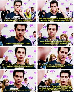 """dylan - maze runner <<<< """"Even the blue guys!! lol oh dylan XD"""